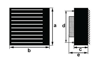 габаритные размеры калорифера серии S