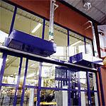 Водяные тепловые завесы Frico серии WAC в работе